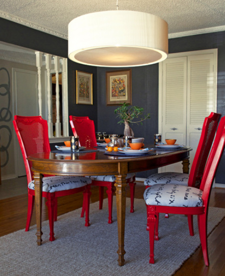 A Dining Room Suite Goes Gloss