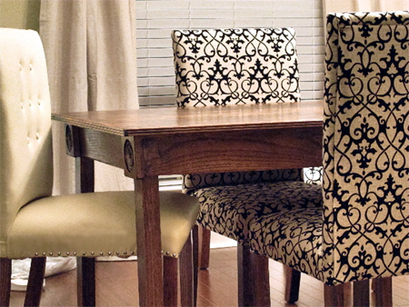 Upholster your made dining chairs