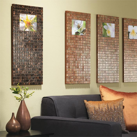 Home Dzine Craft Ideas Photo Frames With Mosaic Tile