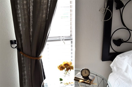 Curtains Ideas curtain holdback ideas : HOME DZINE Home Decor | Make your own curtain tiebacks