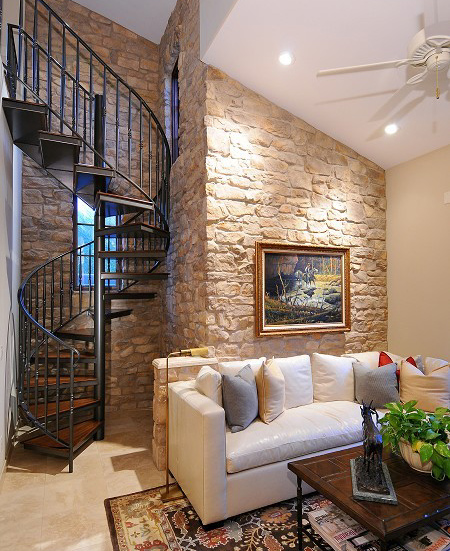 wrought iron curved staircase
