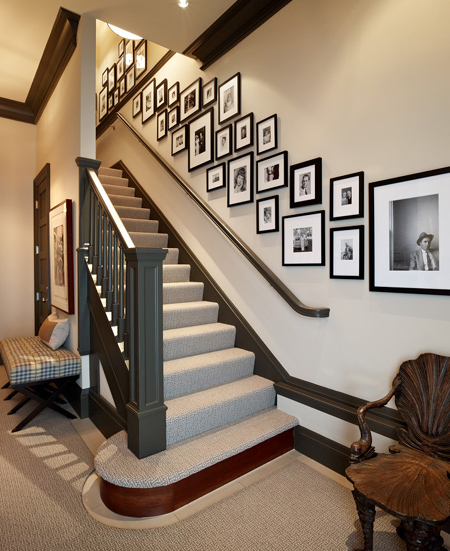 traditional staircase with balustrade and bannister