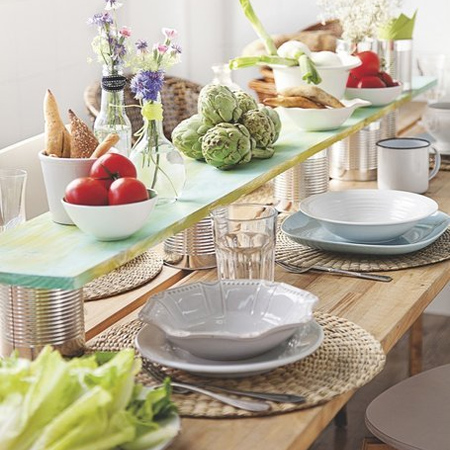 Home Dzine Decor Make A Table Topper For Your Dining