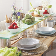 Dining table topper for rectangular table