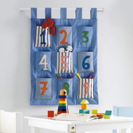 Home Dzine Craft Ideas Fabric Pocket Organiser For Child S Bedroom