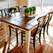 New rustic top for farmhouse dining table