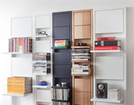 home dzine home decor | wall shelves that open and close according