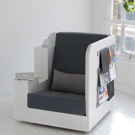 Home dzine home decor comfortable chair for reading working study and storage - Comfortable chairs small spaces property ...