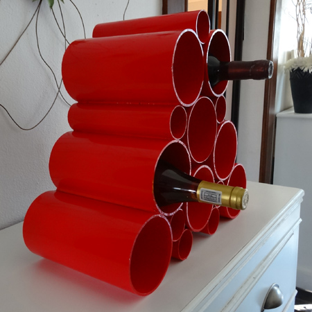 make a wine rack with pvc pipe and tangit pvfc-u weld adhesive glue