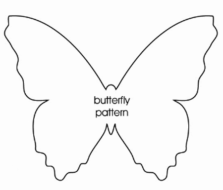 Home dzine craft ideas paper butterfly mobile or chandelier for Butterfly paper cut out template