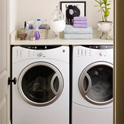 Design a small laundry area