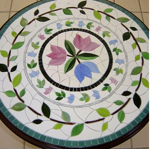 How to mosaic a tabletop