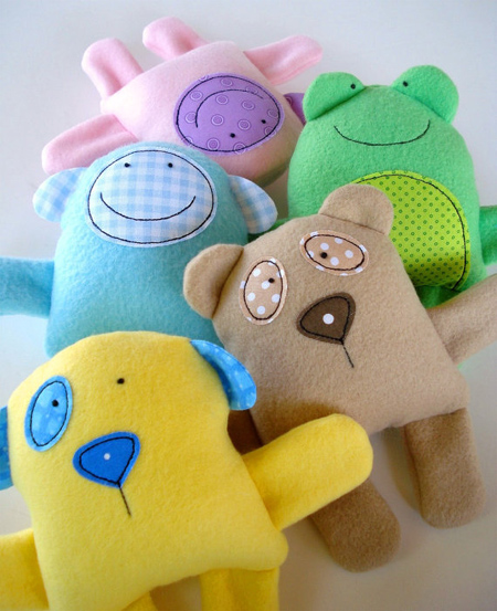Sewing patterns for soft toys and rag dolls