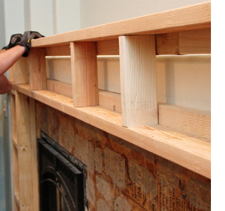 How To Build A Mantel Shelf For A Fireplace