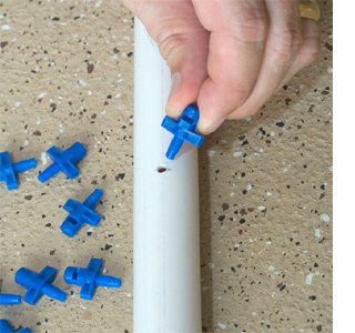 Kids water spray with PVC pipe