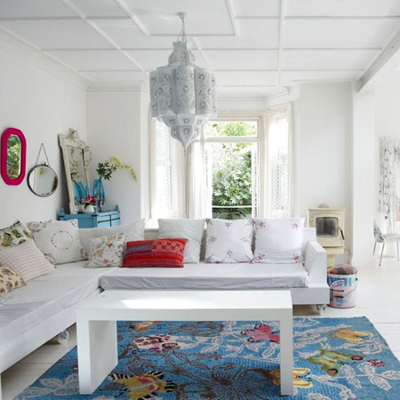 Eclectic style in vintage home