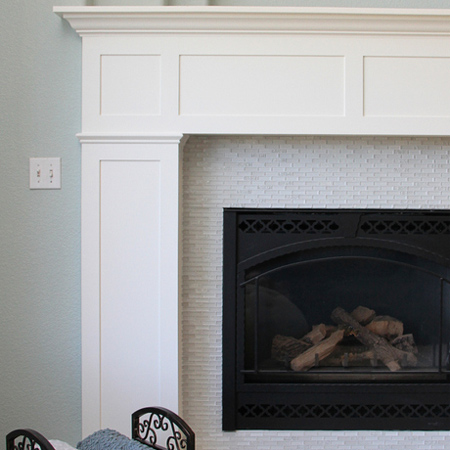 home dzine home diy build a fireplace surround with. Black Bedroom Furniture Sets. Home Design Ideas