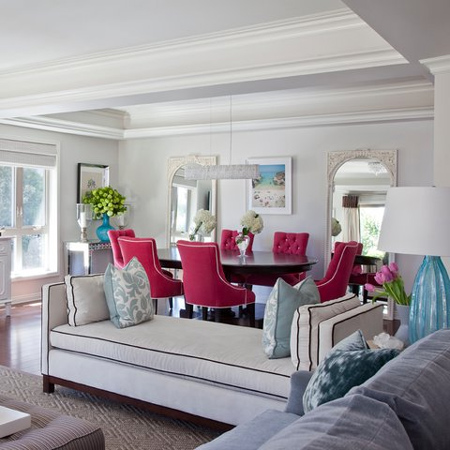Decorate with pink and blue