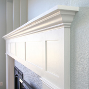 Build a fireplace surround with mantel shelf