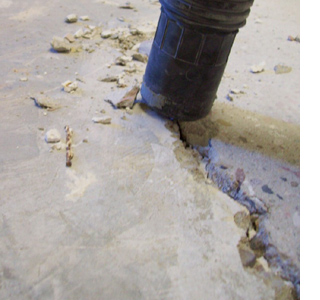 Fixing and repairing cracks in concrete