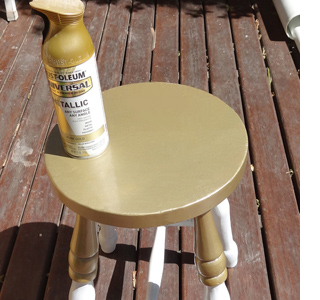 Home Dzine Craft Ideas Paint Dipped Effect For Stool
