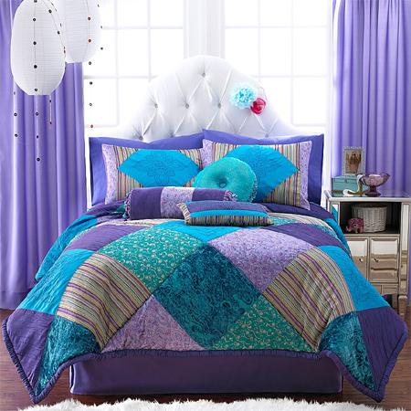 purple and aqua bedding  eBay