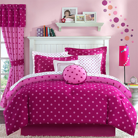 Home dzine shopping gorgeous duvets and bedding for for Polka dot bedroom designs