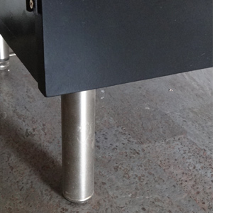 Build a flat-screen TV unit or cabinet satin brushed chrome legs