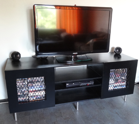 Build a flat-screen TV unit or cabinet