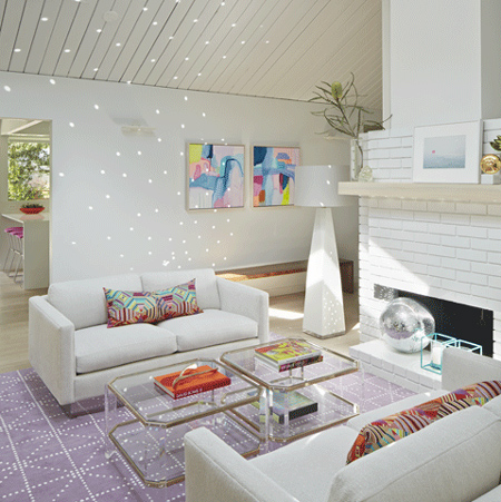 skylights and white painted panelling light bright home white painted brick