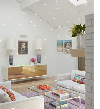 skylights and white painted panelling light bright home