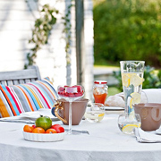 Set the outdoor table for alfresco dining