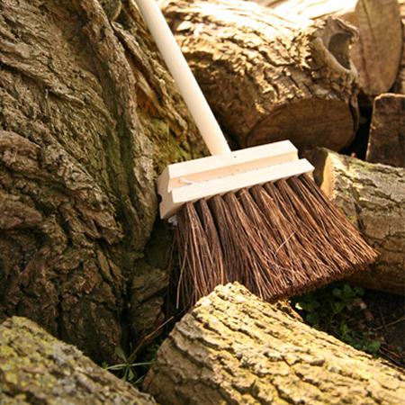 make a garden broom brush