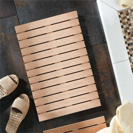Home Dzine Bathrooms Stylish Cork Bathmat