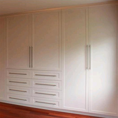 Home dzine home diy how to build and assemble built in cupboards or wardrobes Build your own bedroom wardrobes
