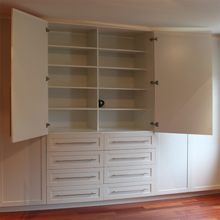 Home dzine home diy how to build and assemble built in for Designs for bedroom cupboards