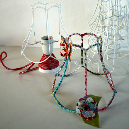 Home dzine craft ideas fabric wrapped wire lampshade fabric wrapped wire lampshade ghost shade keyboard keysfo Gallery