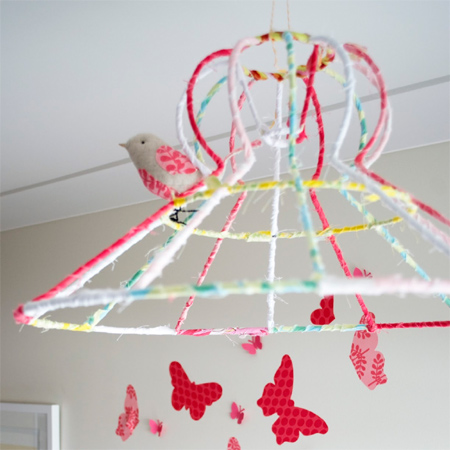 Home dzine craft ideas fabric wrapped wire lampshade fabric wrapped wire lampshade keyboard keysfo Gallery