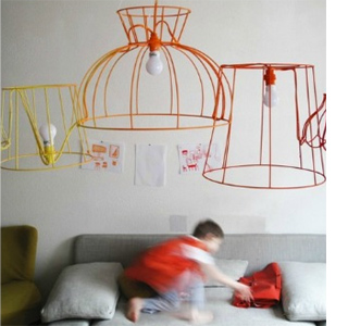 Home dzine craft ideas fabric wrapped wire lampshade fabric wrapped wire lampshade greentooth Images