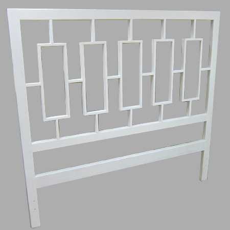 DIY west elm window lattice decorative headboard