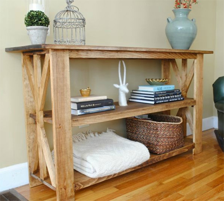 Home Dzine Home Diy Make A Rustic Console Table Or Shelf