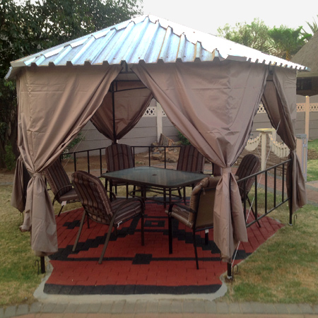 Home Dzine Home Improvement Gazebo With Ibr Sheet Roof