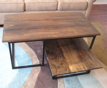 Charmant Make A Wooden Coffee Table With Steel Frame Base