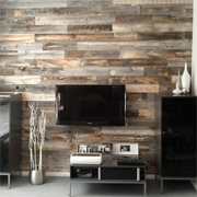 Wood cladding for interior walls