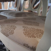 Add piping to dining chairs