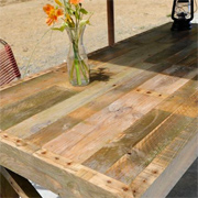 Garden table from reclaimed timber pallets