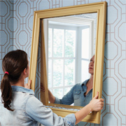 Easy way to frame a mirror