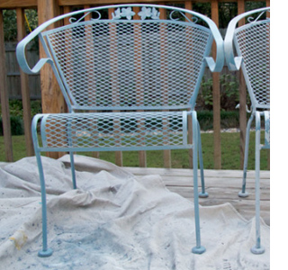 restore revamp steel garden furniture with dremel and rust oleum