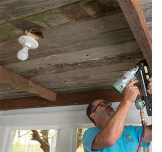 Install a reclaimed timber ceiling
