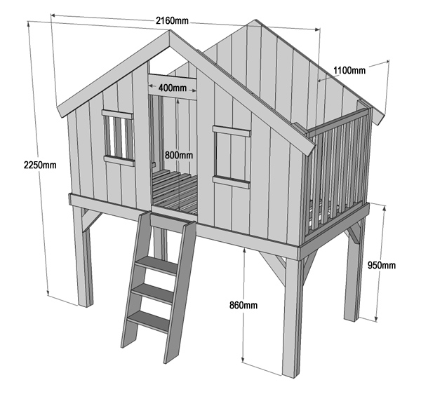 Home Dzine Home Diy Diy Loft Bed Playhouse Or Clubhouse